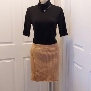 Womens Free People Tan Beige Skirt Size Medium